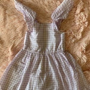 Crewcuts Lilac gingham swing dress